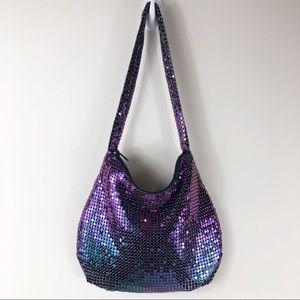 No Brand | Iridescent Purple Evening Bag